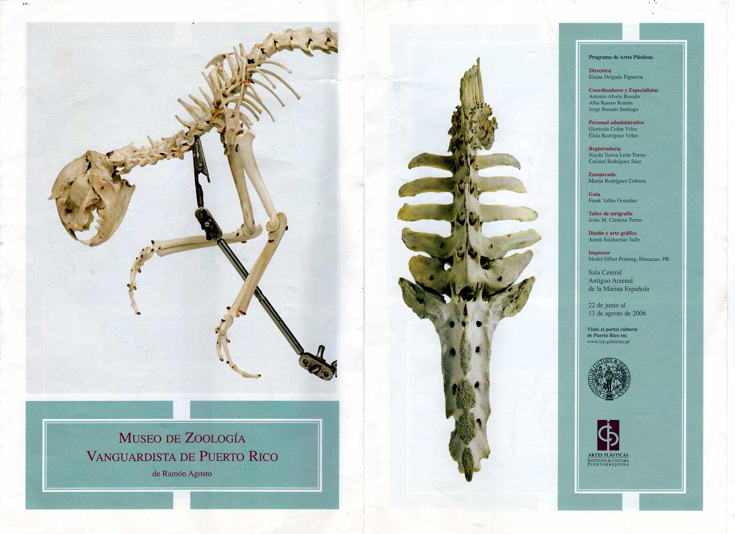 Catalogo Museo de Zoología Vanguardista de Puerto Rico de Ramón Agosto