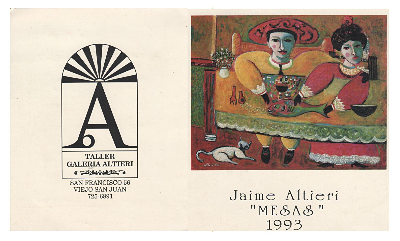 Catálogo de Jaime Altieri Pintura / catálogos de arte una colección