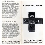 catálogo El Reino de la Espera | Víctor Vázquez | 1991