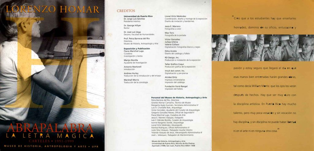 Lorenzo Homar | Abrapalabra: La letra Mágica | Carteles 1951 a 1999.