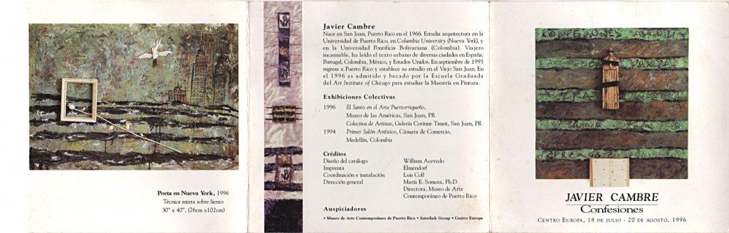 Javier Cambre | Confeciones | 1996 | Centro Europa