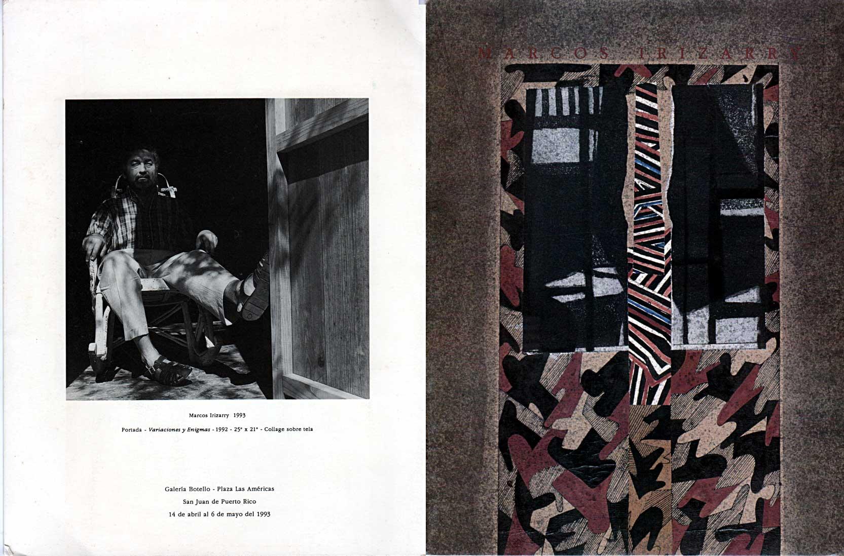 Marcos Irizarry | Variaciones y enigmas | Galería Botello | 1993